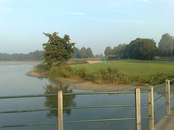 De brug over het meer van Bussloo, waarmee de 3 verschillende rondes zijn gemaakt.